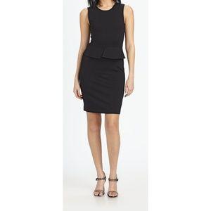 EUC Theory Sleeveless Black Peplum Dress Size 8